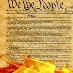 Constitution in flames
