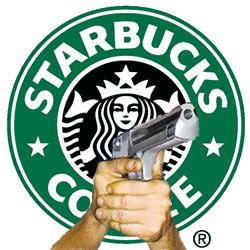 Guns Healthcare Starbucks