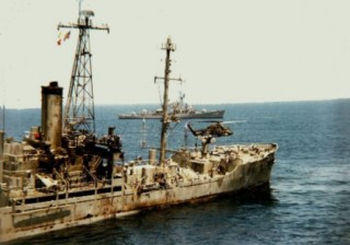 The USS LIBERTY — Crippled American vessel limps back to port following vicious Israeli attack.
