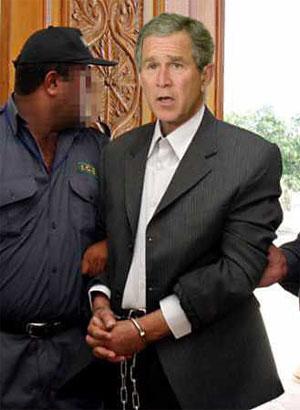 George W. Bush Under Arrest for Murder