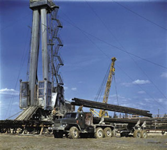 Drilling a well in Siberia