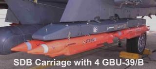SDB Carriage with 4 GBU-39B