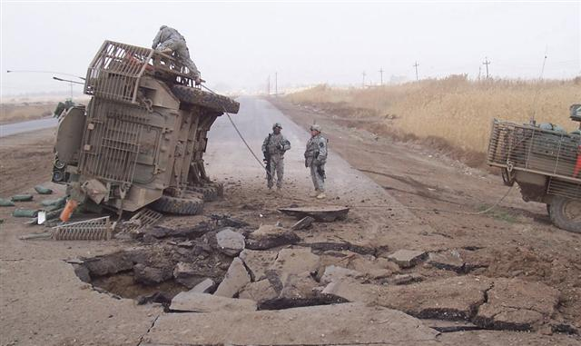 Hostile Afghan Forces use IED to Attack Stryker
