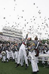 """""""West Point"""" """"Graduation Hat Toss"""""""