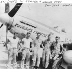 Len Dietz, Providence Permittin and ground crew Iwo Jima June 1945