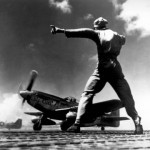 NA P-51 takes off from Iwo Jima