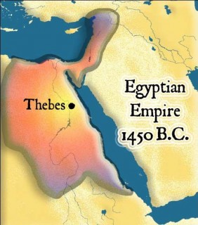 Egyptian empire at the time of the Exodus.