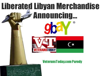 Announcing gBay !! Exclusive liberated Libyan Merchandise - VT parody