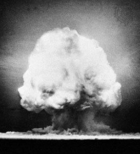 An Atomic Bomb - The small neutron bomb is nothing like this large bomb.