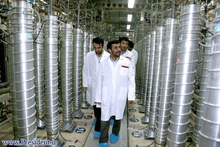 Iranian president Mahmoud Ahmadinejad visits Natanz enrichment plant