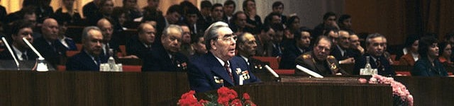 Leonid Brezhnev speaks at 18th Komsomol Congress opening