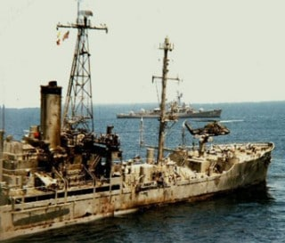 USS Liberty after Israeli sneak attack
