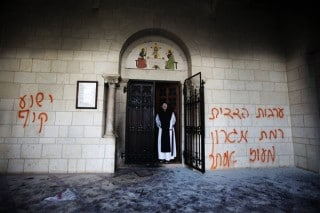jewish attack on christian monastery