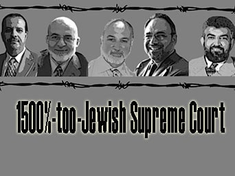 "1500%-too-Jewish Supreme Court: ""US belongs to Israel"""