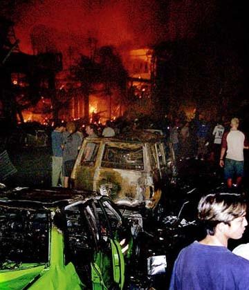 8 Bali Bomb Blast Cars