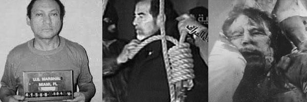 Manual Noriega, Saddam Hussain, and Moamar Gaddafi.  Assad?