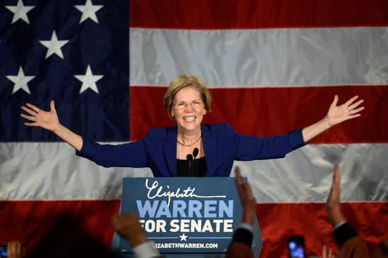 Elizabth Warren claims victory