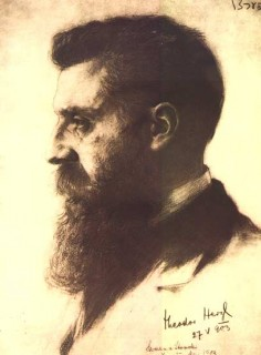 Herzl said early on that he would use anti-semitism as that was the only thing to hold 'the people' together.