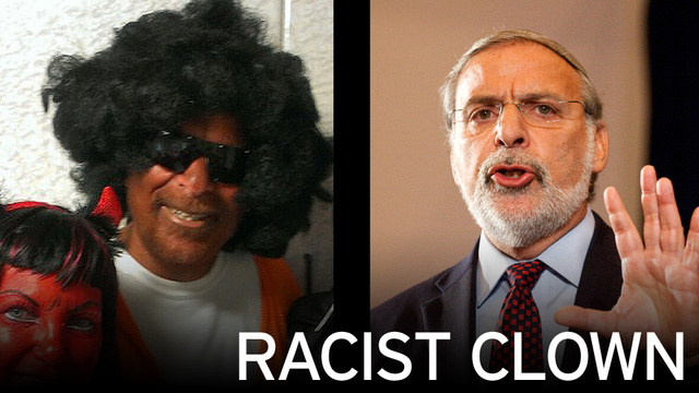 """"""" You just can't make this stuff up""""... Jim W. Dean  ( Dov Hikind in his Purim costume on left )"""