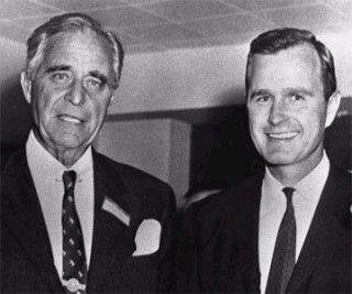 Prescott Bush had his companies seized during WWII for 'trading with the enemy'.
