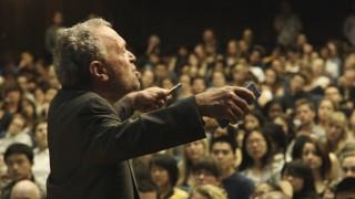 Robert Reich lecturing  Photo Credit Dan Krauss