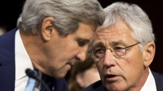 Secretary of State John Kerry and Secretary of Defense Chuck Hagel