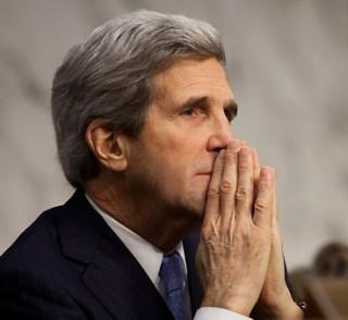 John Kerry - between a rock and a hard place?