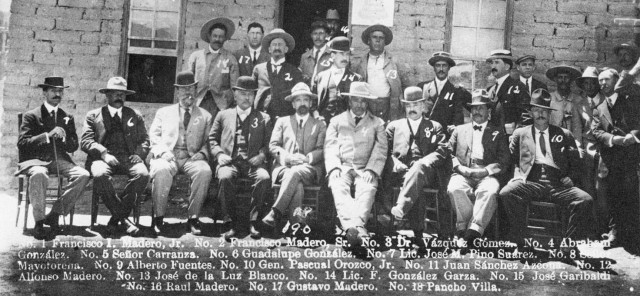 Villa (back row on left) and his posse