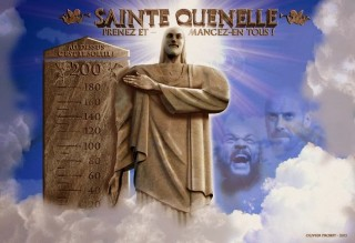 """The """"Holy Quenelle"""" statue will be the focus of worship of the NWO's one-world religion."""