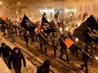 Neo Nazi march in Ukraine, 2014