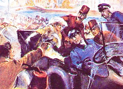 Assassination of Archduke Ferdinand launched the events leading to World War I.