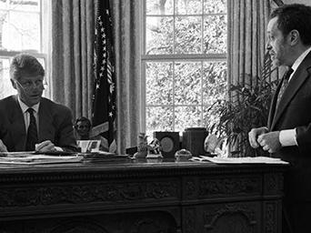 President Bill Clinton and Robert Reich