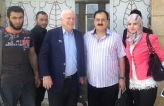 """John McQaeda with his Al Qaeda buddies in Syria. """"Open your eyes John...you get a clearer picture of things."""""""