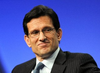 """Image: U.S. House Majority Leader Cantor takes part in a panel discussion titled """"The Awesome Responsibility of Leadership"""" at the Milken Institute Global Conference in Beverly Hills, California"""