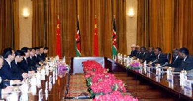 Chinese and Kenyan delegation bi-lateral economic talks