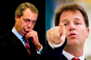 Farage Clegg debate