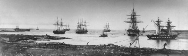 French squadron at anchor - Crimean War