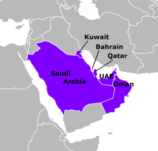 GCC map of countries