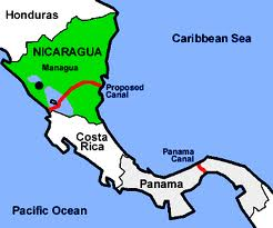 Plans for a Nicaragua Grand canal