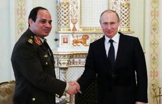 Field Marshal Al Sissi and president Putin