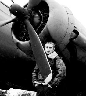 McQueen filming the War Lover, 1961