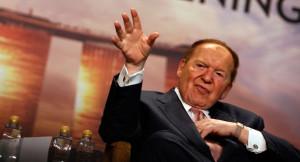 Fervent Zionist sympathizer, Sheldon Adelson