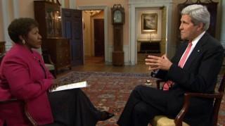 Gwen Ifil interviewing John Kerry
