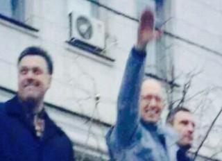 Yatseniuk, reportedly Jewish, saluted his people