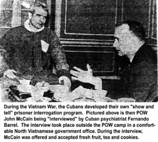 """""""Sond bird McCain"""" in Hanoi. This commanding officer wanted him court-martialled. Nixon had to amnesty all the PoWs to stop the proceedings."""
