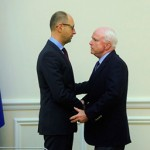 Yatsenyuk with Arizona's Senator McCain - What is wrong with Arizona?