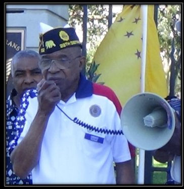 The Honorable Oliver Taylor, District 29 Commander of the American Legion, speaks out at a Veterans Revolution Sunday Rally outside the Los Angeles VA supporting the Federal Judgment against VA Secretary Shinseki and protesting the Appeal of the Judgment.