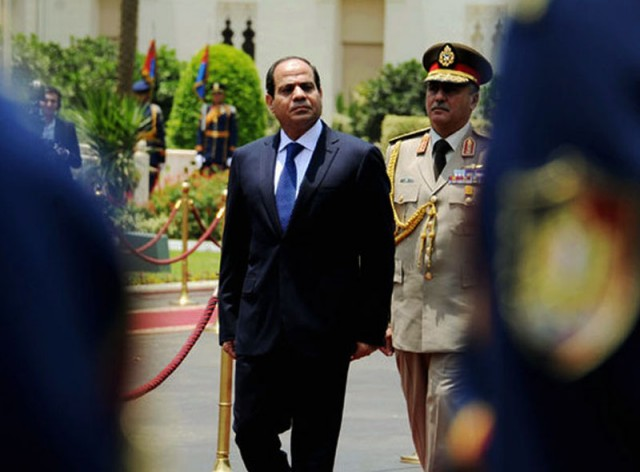 The Inaugural parade for president Abdel Fattah El Sisi at Cairo's Ittehadya Presidential palace – June 8, 2014