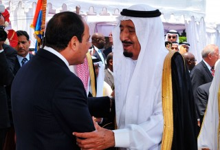 Saudi Arabia's Crown Prince Salman bin Abdul-Aziz Al-Saud attending the inaugural ceremonies of El-Sisi as Egypt's new president
