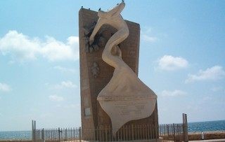 Monument at Acre to the freedom fighters who freed the hostages